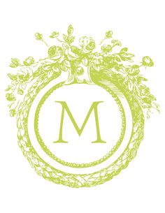 Free custom monogram. Select color & letter. Download and print!