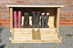 Country Wellington Boots – – Welly Store Large | 1000 - Modern | 1000 Outdoor Shoe Storage, Boot Storage, Porch Storage, Outdoor Projects, Wood Projects, Woodworking Projects, Boot Rack, Wellies Boots, Wellington Boot