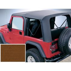 The PreOwned Jeep Store - XHD Soft Top, Tan, Clear Windows, 97-06 Jeep Wrangler (TJ), $475.03 (http://www.buyjeeppartsonline.com/jeep-xhd-soft-top-tan-clear-windows-97-06-jeep-wrangler-tj/)