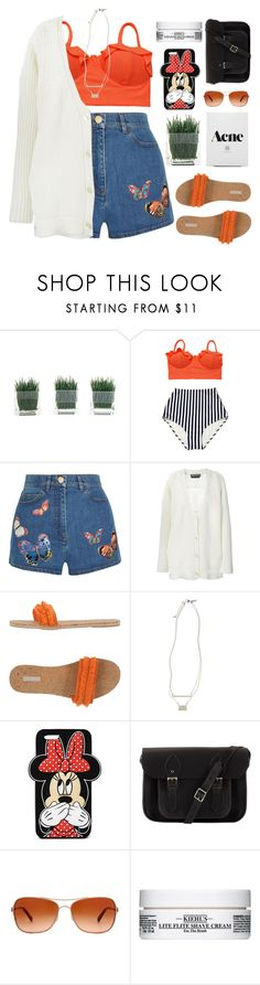 """""""you make me live whenever this world is cruel to me"""" by end-of-the-day ❤ liked on Polyvore featuring Valentino, Rochas, ALMERIA, Topshop, Forever 21, The Cambridge Satchel Company, Oakley, Kiehl's, women's clothing and women"""