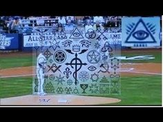 Illuminati & Masonic Symbols shown during Live Baseball (MLB) - They believe this is one way of casting their 'spells' on us, they believe the symbols have occult, spiritual power/significance
