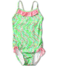 Lilly Pulitzer Kids Snorkel Swimsuit Toddler Little Sly Blue