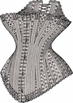 Blossom Style Inspiration by A Design Queen: Victorian Corsetry Inspiration Vintage Corset, Victorian Corset, Vintage Sewing, Victorian Era Fashion, Vintage Fashion, Trend Fashion, Fashion Art, Fashion History, High Fashion