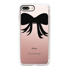 Put a Bow on it - Black - iPhone 7 Case, iPhone 7 Plus Case, iPhone 7... (1,855 DOP) ❤ liked on Polyvore featuring accessories, tech accessories, phone cases, phone covers, phonecase, iphone case, iphone cover case, slim iphone case, apple iphone case and iphone cases