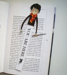 Harry Potter bookmark by BigNerdWolf on Etsy