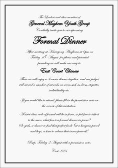 Formal Dinner Invitation Sample Event Photo Booth Step And Repeat Backdrop
