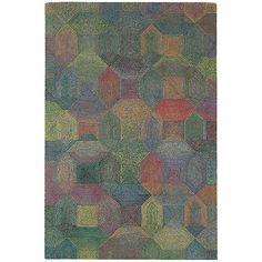 Debenhams Grey And Multi Coloured Woollen Camden Rug
