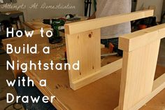 Handbuilt Nightstand With Drawer