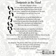 11 Best Footprints In The Sand Poem Images Footprints In The Sand