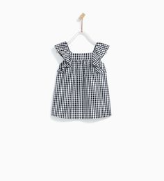 GINGHAM CHECK DRESS-DRESSES AND JUMPSUITS-BABY GIRL | 3 months - 4 years-KIDS | ZARA United States Fashion Kids, Fashion 2020, Check Dress, Zara Kids, Gingham Check, Diy Clothes, Baby Love, Dress Collection, Baby Dress