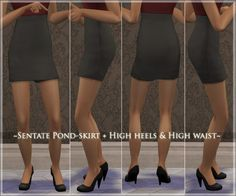 400 Followers - Sentate Pond-skirt HighWaisted + High Heels
