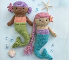 Amigurumi Knit Mermaid Dolls Pattern Digital Download