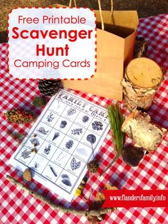 Free printable scavenger hunt camping cards. Fun {and easy!} camping activity for the kids.