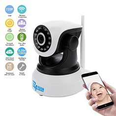 BAVISION Wifi Wireless IP Security Network Camera Baby/Nanny Monitor HD Surveillance Cameras Night Vision plug/play Pan/Tilt with Two-Way Audio Suport TF Card QR Code Scan Easy Installation