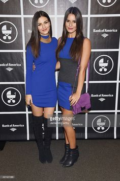 Actress Victoria Justice (L) and Madison Justice attend as Baby Buggy celebrates 15 years with 'An Evening with Jerry Seinfeld and Amy Schumer' presented by Bank of America - Arrivals at Beacon Theatre on November 16, 2015 in New York City.