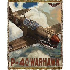 Bomber and Fighter Throw Ww2 Aircraft, Military Aircraft, Military Art, Military History, Old Planes, Illustrations Posters, Vintage Illustrations, Aircraft Pictures, American War