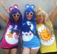 9 Last-Minute Halloween Costumes For All The Procrastinators Out There - karneval - Carnaval Care Bears Halloween Costume, Care Bear Costumes, Halloween Costumes For Work, Bear Halloween, Hallowen Costume, Christmas Costumes, Cute Halloween, Halloween Makeup, Halloween Ideas