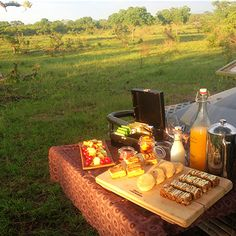 A morning bush stop at Singita Sabi Sand. This is what I call a morning coffee break! Coffee Break, Morning Coffee, Safari Game, Picnic Foods, Afrikaans, Camps, Lodges, South Africa, Globe