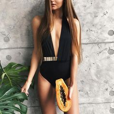 bikini 2018 swimwear women swimsuit maillot de bain femme bikinis women bathing suit biquini push up brazilian bikini hot button One Piece Swimwear, One Piece Swimsuit, Monokini, Women Swimsuits, Beachwear, Sexy Women, Metal Belt, Deep, Size Chart