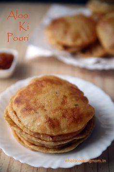 Aloo ki Poori - lunch/ dinner, school lunch box, snack, vegetarian