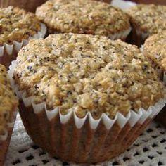 Muffins de banana com sementes de papoula @ allrecipes.com.br