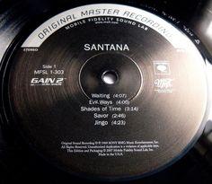 SANTANA 1969 DEBUT LP 2007 MFSL ORIGINAL MASTER PRESS *COMPLETE* NUMBERED MINT
