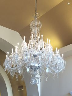 Visitors to our museum are greeted by over 1,000 pieces of lead Bohemian crystal. It is 8 feet tall, 6 feet wide, and 460 pounds. It was made in Prague by Preciosa.
