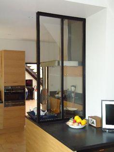 Fabricant Création d'une verrière de cuisine, ainsi qu'un chassi vitré pour la montée d'escalier Lyon, Création verrière de cuisine Divider, Sweet Home, Ainsi, Kitchen, Room, Furniture, Fabricant, Home Decor, Creative