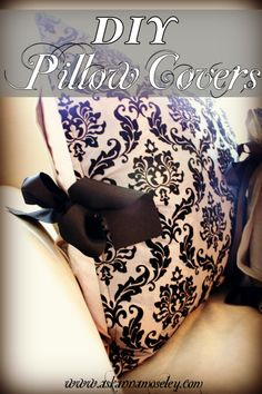 Make Easy Pillow Slipcovers -- an easy way to change decor!