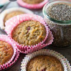 Coconut Strawberry Chia Muffins