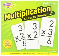 Trend Enterprises Multiplication 0-12 Flash Cards (All Facts) Trend Enterprises Inc http://www.amazon.com/dp/B0007WXPHQ/ref=cm_sw_r_pi_dp_MkGCvb1B67AND