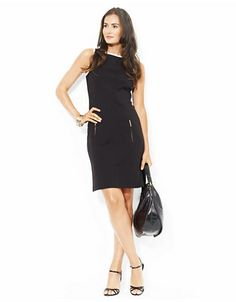 LAUREN RALPH LAUREN TwoToned Sleeveless Dress - BLACK/WHITE -http://1tagdeals.com/fashion/shop/lauren-ralph-lauren-twotoned-sleeveless-dress-blackwhite-10/