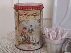Van Houten cacao blik.