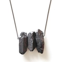 Quartz Trio Necklace//