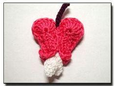 DIY Crochet DIY Yarn: DIY Crochet Flower Pattern Bleeding Heart