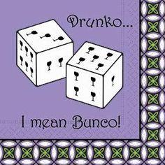 Image detail for -Main / Sassy Napkins / Cocktail Napkins-Drunko... I mean Bunco!