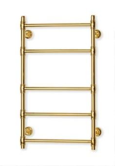 """""""Retro"""" style towel rail from brass, gold plated"""