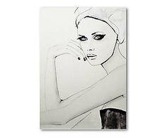 Impression BROKEN WILD acrylique, noir et blanc - 42*30