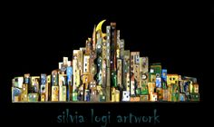 #skyline in recovered #wood, #all panel or #headboard, see more on my Fb page https://www.facebook.com/pages/Silvia-Logi-Artworks/121475337893535?ref=br_rs