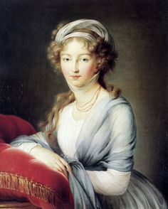The blue is quite becoming with her eyes. | Portrait of Empress Elisabeth Alexeievna of Russia | Louise Elisabeth Vigee Le Brun | 1795