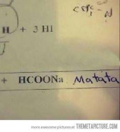 Creo que nunca he puesto algo así en un examen de química. Lástima.  Sobre el autor More at