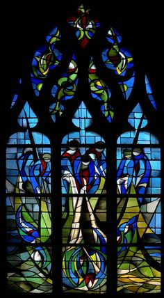 stained glass - Caen Eglise Saint Jean