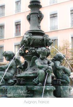 Lovely fountain in Lyon, France