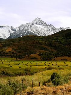 Mount Sneffles from Ralf Lauren Ranch located near Ridgeway, Colorado on the Dallas Divide; photo by Wayne Boland