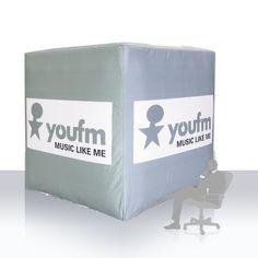 youfm Würfel aufblasbar - Anfertigung von aufblasbaren Werbeobjekten in jeder Form nach Kundenwunsch. Music Like, My Music, Form