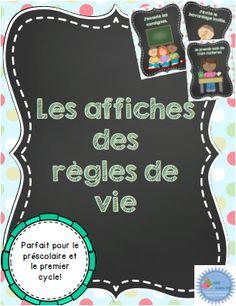 Affiches sur les règles de vie en classe French classroom rules