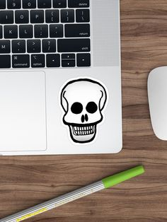 Alternate view of Basic Skull Pattern Design Stickers Decorative Stickers, Laptop Stickers, Sticker Design, Pattern Design, Skull, Symbols, Halloween, Prints, Skulls