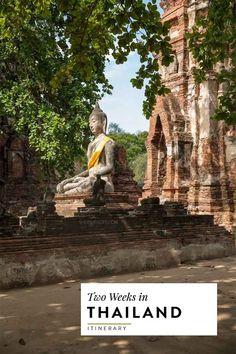 2 week thailand itinerary covering bangkok, ayutthaya, sukhothai, chiang mai, koh tao and ko samui