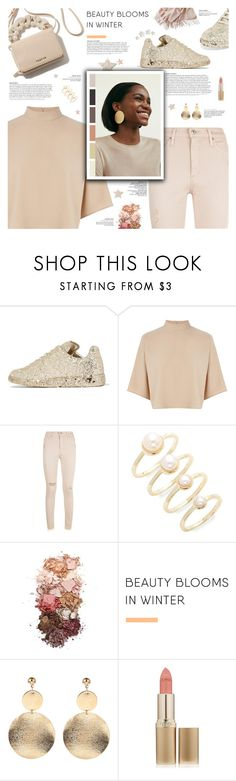 """New Winter Nudes"" by r-maggie ❤ liked on Polyvore featuring Maison Margiela, Warehouse, AG Adriano Goldschmied, Eddie Borgo, Sigma, L'Oréal Paris and Mark & Graham"