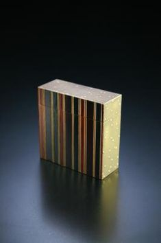 Striped lacquer, small box- Yamamura